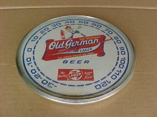 VINTAGE OLD GERMAN PRIMIUM LAGER BEER THERMOMETER QUEEN CITY MARYLAND