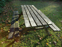 Beautiful hardwood picnic bench - 5feet long - delivery possible