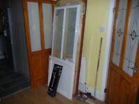 Shower kit, bi-fold door, base and mixer
