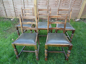 5 Superb dining room chairs need a little TLC hence price