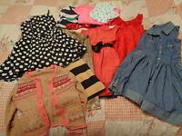 BIG Bundle of Girls Clothes Age 5-6 - Dresses, Tops, Cardigan - Next, Dunnes, H&M etc 11 items