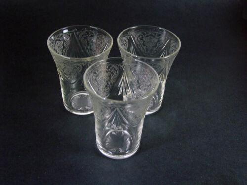 "Vintage Hazel Atlas 1930's - Crystal Royal Lace - 3 - 4"" - 9 oz Flat Water Glass"