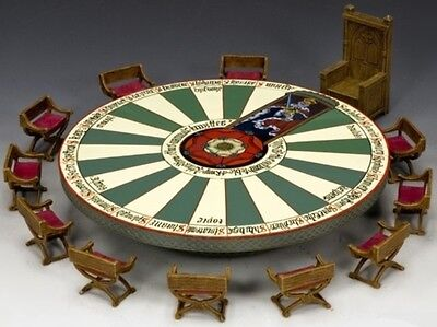 KING & COUNTRY MEDIEVAL KNIGHTS MK143 & MK144 THE ROUND TABLE AND CHAIRS SET MIB](Medieval Table Setting)