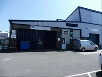 Workshop/Store (980 sq ft) TO LET at Strode Road, Plympton. Easy in easy out terms