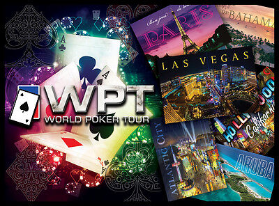 World Poker Tour Pinball Alt Translite (4 choices) New Art Free Playfield Decal