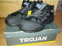 NEW! Trojan J60 Air Bubble Trainer Safety Shoe Black . Size 12