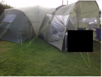 Hartford XXL - Super large family tent with porch extension 8 -12 people