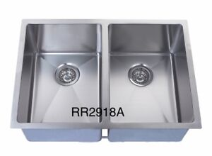 """Handmade u/m double bowl square sink 29""""x18""""x10"""" for $239!!!"""