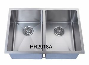 """Handmade u/m double bowl square sink 29""""x18""""x10"""" for $249!!"""