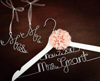 Personalized Wire Hangers, Cake Toppers, Jewelry & More! Wedding