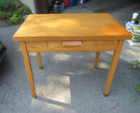Solid Wood Table / Computer Desk - One drawer