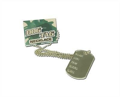 Armee Erkennungsmarke, Krieg / Militär Halskette Kostüm - Militär Armee Kostüm Zubehör