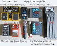 Plusieurs items à vendre équipement d'effet  pour guitare