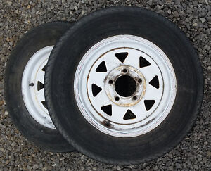 Trailer Rims Spares, campers, car haulers, dollys 5 on 4 1/2