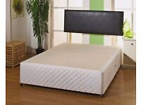 FREE LONDON DELIVERY -- NEW DOUBLE DIVAN BED BASE ONLY £49 MATTRESS OPTION AVAILABLE //