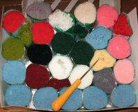 rug hooking yarn + hook