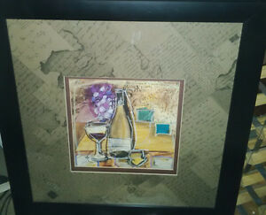 Champagne bottle decorative art print, framed, $15 Kitchener / Waterloo Kitchener Area image 3