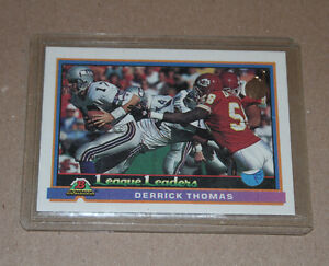 Bowman Derrick Thomas 1991 football card Strathcona County Edmonton Area image 1