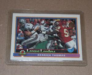 Bowman Derrick Thomas 1991 football card