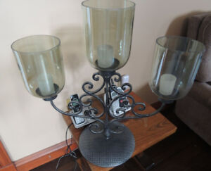 3 large candle stand, 24 inches tall