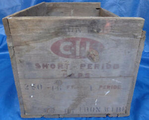 RP1511 Vtg CIL Short Period Electric Blasting Caps Dynamite Box