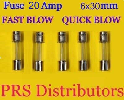 5mm x 20mm GLASS Cartridge FUSE 8 Amp AXIAL LEAD FAST BLOW Quick F8AL250V