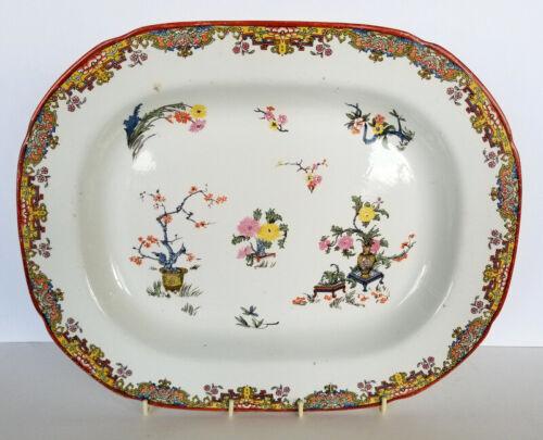 Antique STAFFORDSHIRE Transferware PLATTER - Oriental Floral Pattern - RIDGWAYS