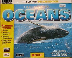 4 CD ROM The Living Oceans
