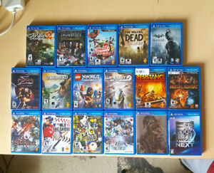 PS VITA GAMES ( $10 - $40 ) PICK UP ONLY