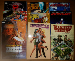 Soft Cover Trade Paperbacks - $5 each. 57 to choose from.