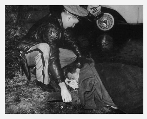 1960 Nassau Co Old Westbury Long Island Crash Victim  Photo