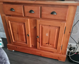 Beautiful untreated pine sideboard for sale