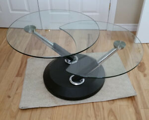 Two in One - Glass Top Coffee Table NEW PRICE