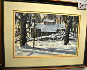 Sap House in the woods Al Poolman Oil Painting