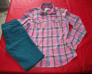 Girls Aeropostale blouse size Med & Jeggings size 2 regular