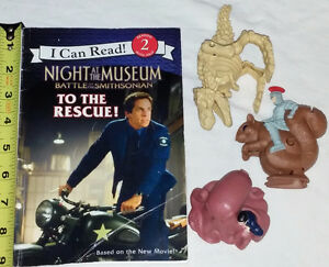 Night at the Museum Book & 3 Toy Figures