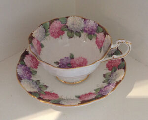 Paragon Pink Purple Lilacs Tea Cup and Saucer