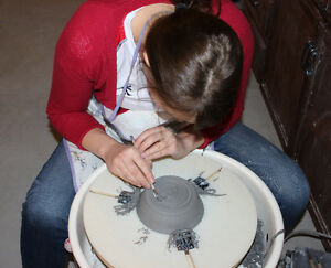 Pottery lessons, 8 week courses