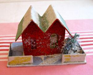 Ancienne maison de village de Noël mica putz #N105