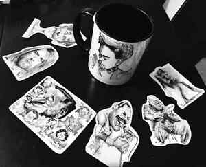 the caricature show  and cup art
