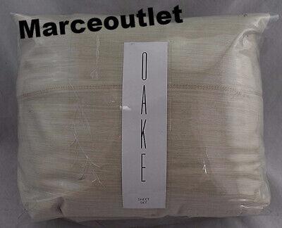 Oake Yarn Dye 525 Thread Count Cotton Sateen TWIN Sheet Set Natural - $22.50