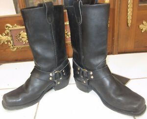Vintage Harley Leather Men's Size 8 1/2 Motorcycle Harness Boots