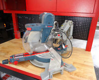 "***BOSCH 12"" Dual bevel sliding mitre saw, NEARLY NEW***"