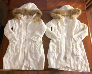 Children's PLACE twins knit sweater coats girls size 5/6 clothes