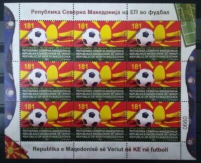 NORTH MACEDONIA 2021 EUROPEAN FOOTBALL CHAMPIONSHIP SS MNH