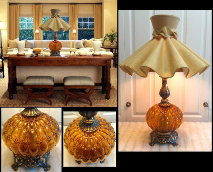 Tri light amber large glass lamp stunning american beauty h30 indoor lighting fans calgary kijiji