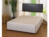 BRAND NEW FURNITURE- DOUBLE AND KING SIZE DIVAN BED BASE w OPT MATTRESS-ORDER NOW