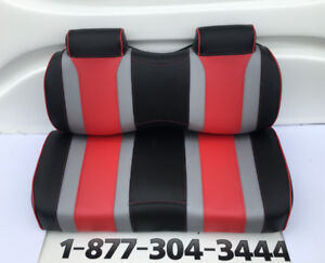 luxury front and back seat for golf kart