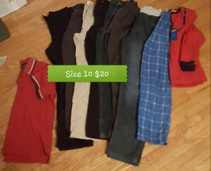 Boys size 10 clothing lot