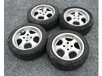 "EMR Ronal Cup 15"" 4x100 Deep Dish Alloy Wheels ET35 VW Golf Polo Lupo Seat Arosa Clio Corsa MX5"